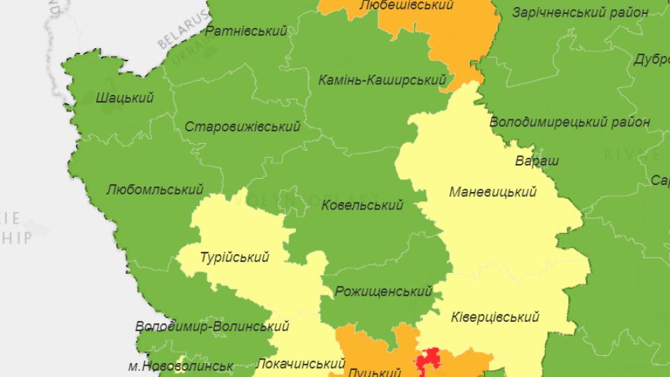 Волинь поділили на чотири карантинні зони. Луцьк – у «червоній»