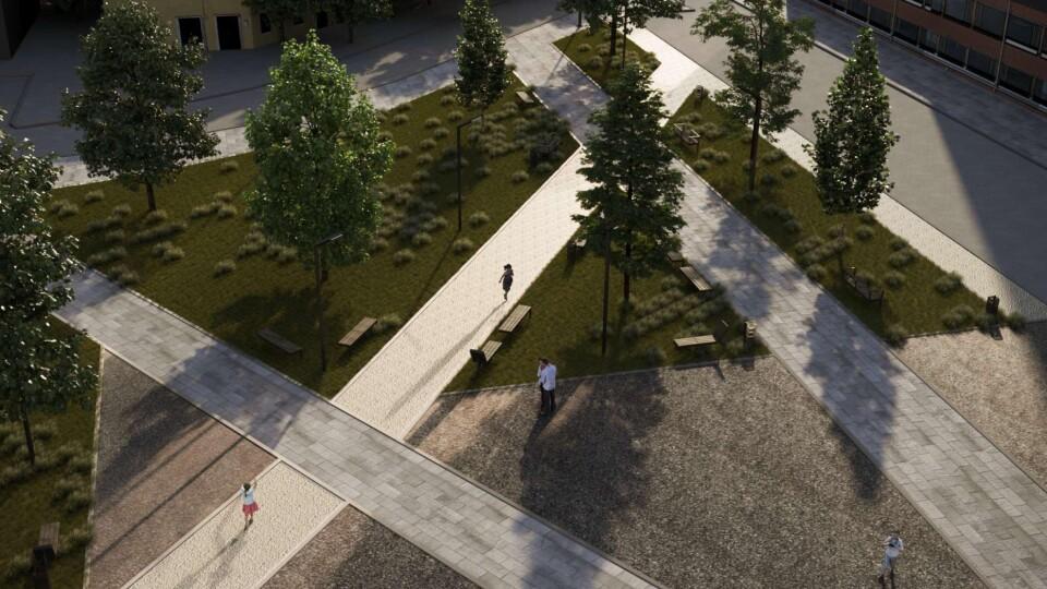 Показали концепцію скверу поруч зі школою №26. Закликають до обговорення