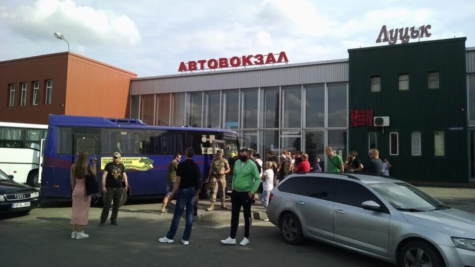 Протест у Луцьку на автостанції. Ветерани АТО написали заяву на перевізника
