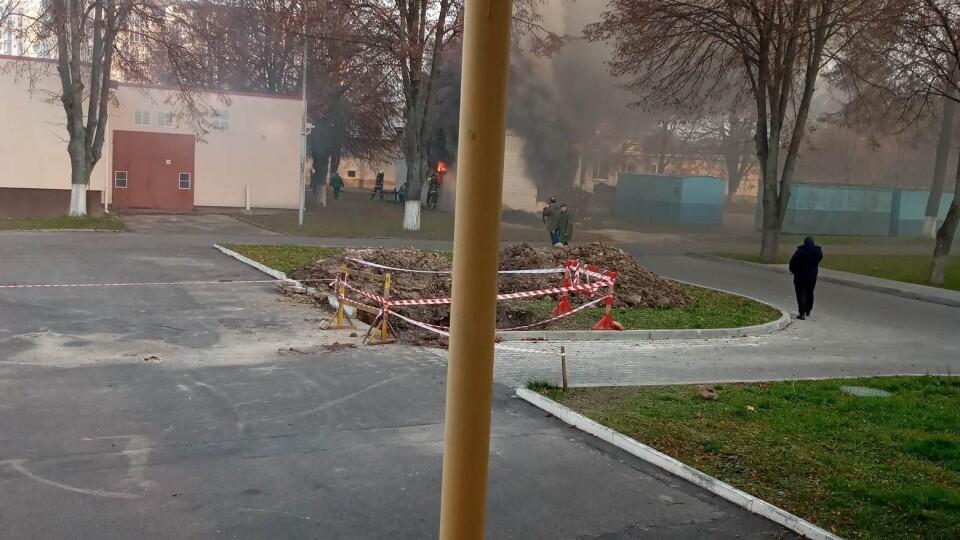 У Луцьку на території обласної дитячої лікарні виникла пожежа