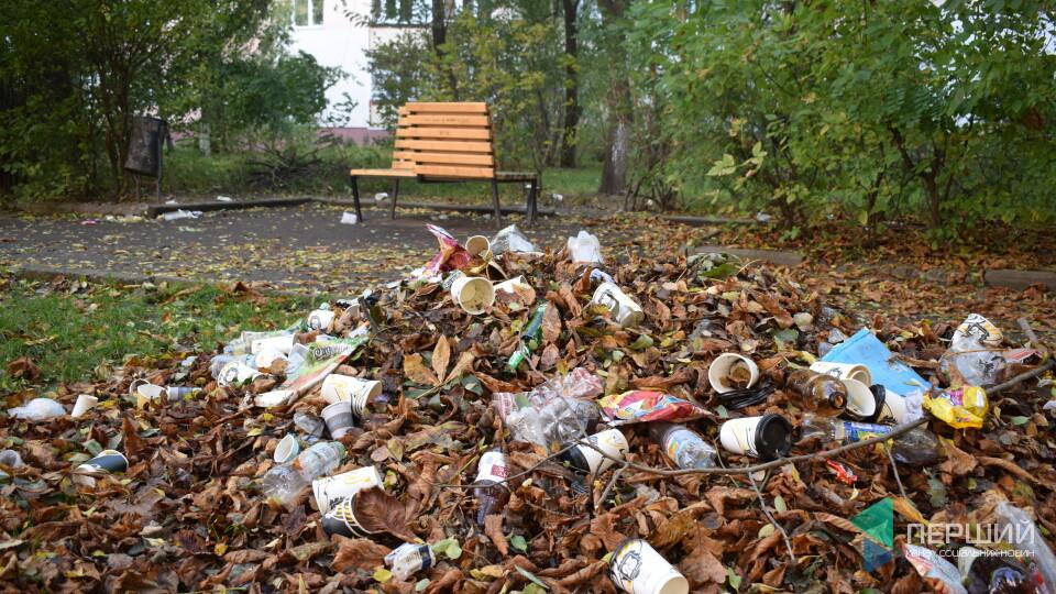 Смітник на місці студентського скверу. Що сталось з креативною зоною у Луцьку