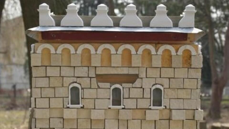 Митець створив вулик у формі замку Любарта для волинського бджоляра