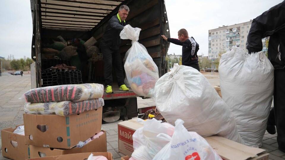 Волиняни передали допомогу для погорільців із Луганщини
