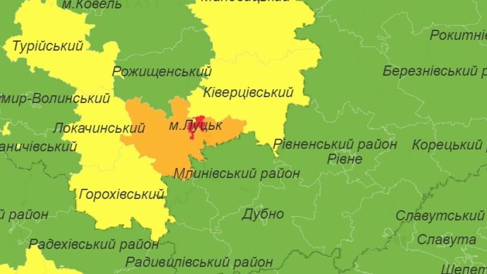 «Карта оновилася автоматично». Луцьк поки залишається у «червоній» зоні