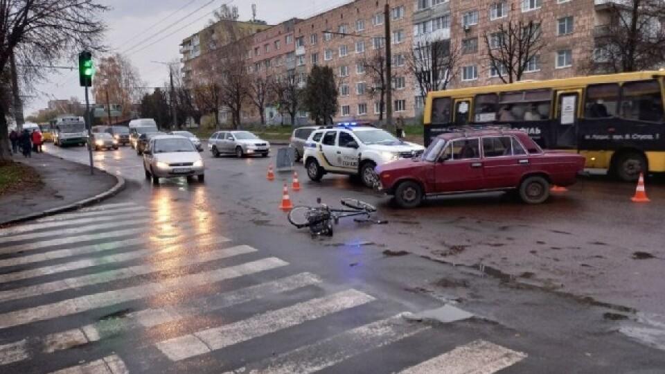 Стало відомо про стан велосипедиста, якого зранку в Луцьку збило авто