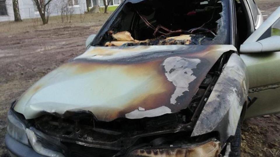 На Волині посадовцю спалили авто. ФОТО