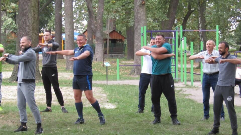 Голова Волинської ОДА Погуляйко тренувався з дітьми у Ківерцях. Фото