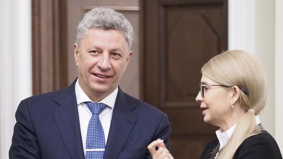 Бойко заявив, що  готовий створити коаліцію з Тимошенко