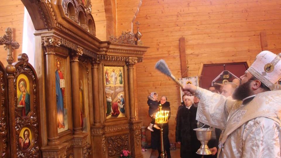 Михаїл освятив іконостас у храмі біля Луцька. ФОТО