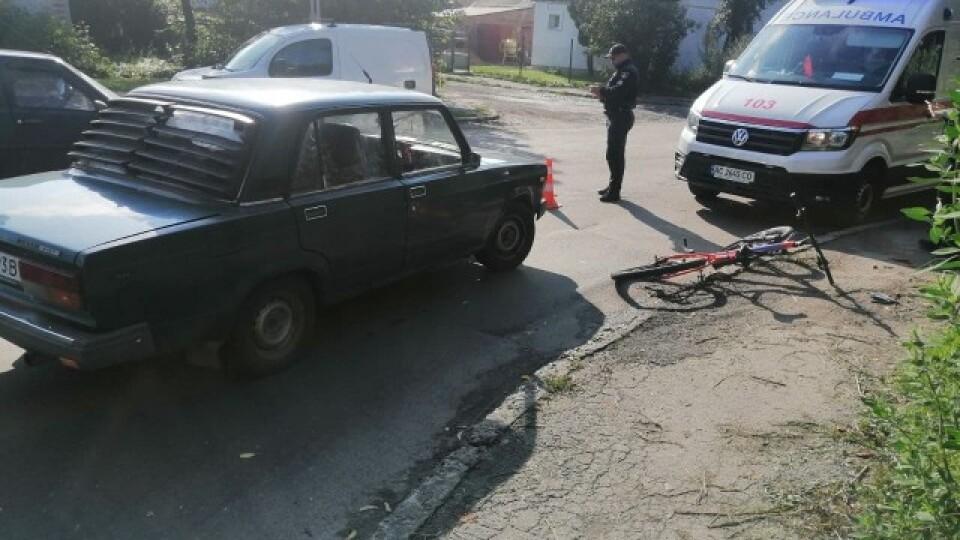 У Луцьку автомобіль збив велосипедиста