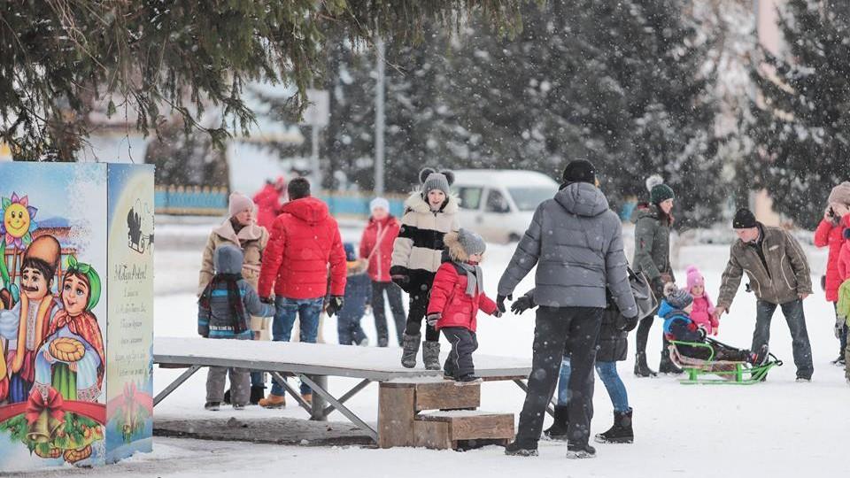 Різдво у центрі Володимира-Волинського. ФОТО