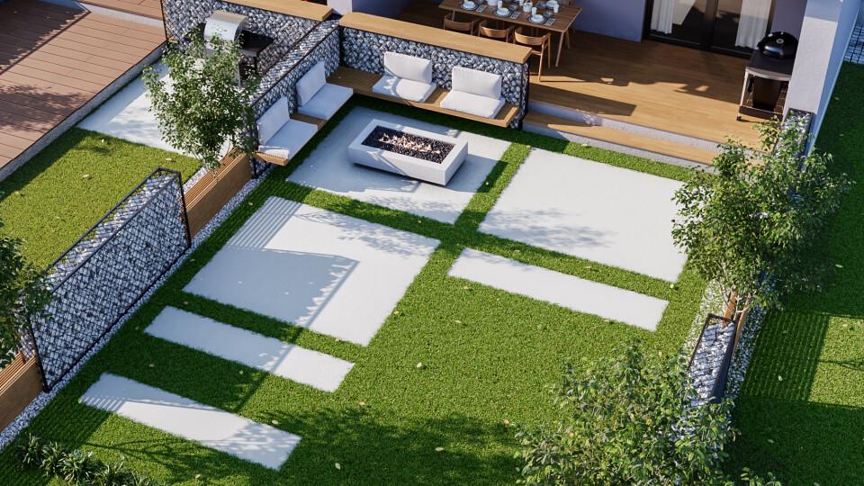 Туї, сітка чи каміння. 5 варіантів, як оформити внутрішній дворик