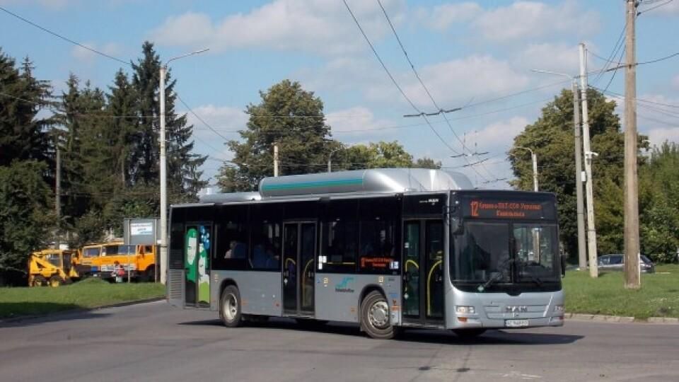 У Луцьку на маршруті №12 їздять автобуси MAN