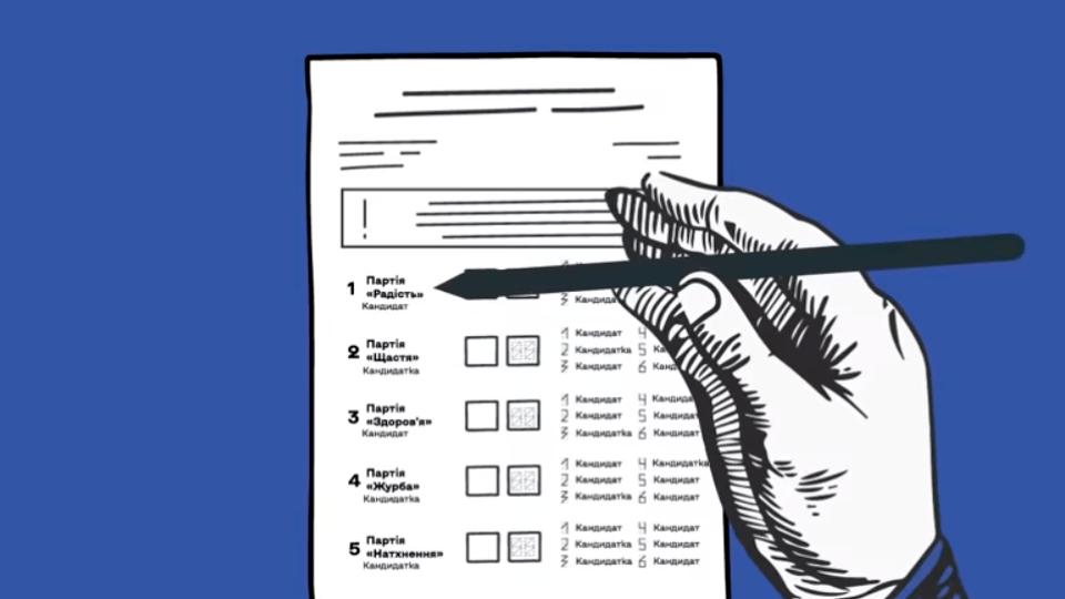 Як правильно заповнювати бюлетень на місцевих виборах. Відеоінструкція