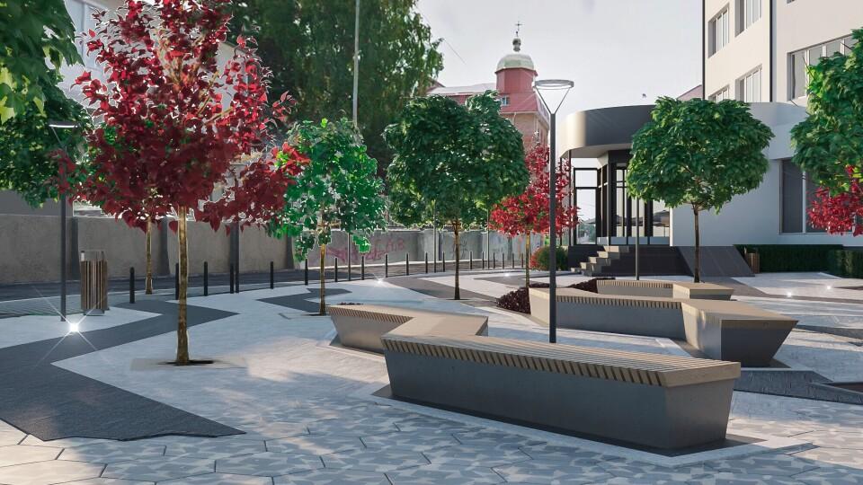 Еко-парковка і лавки-зигзаги: яким буде сквер у центрі Луцька