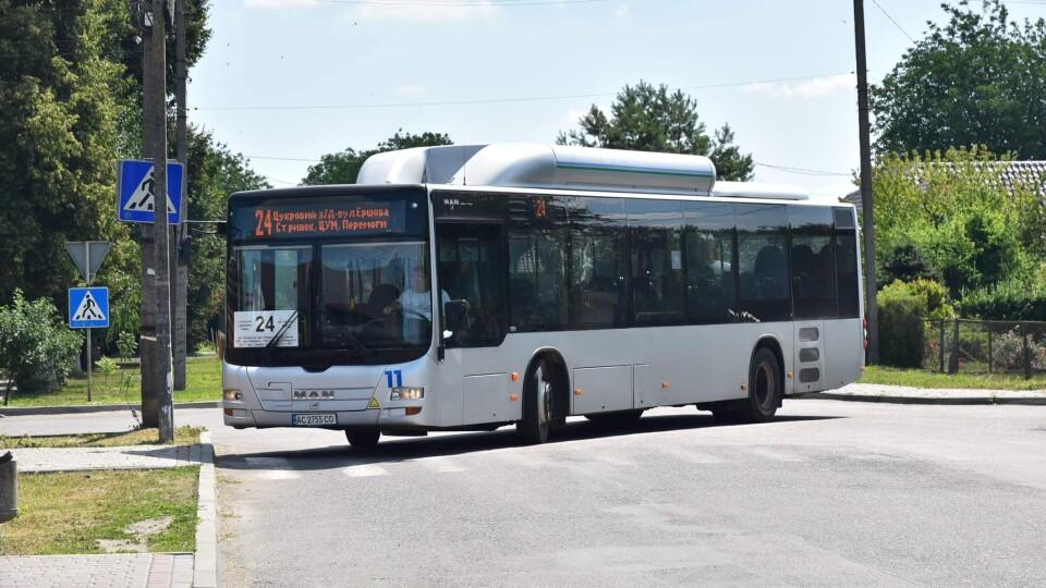 У Луцьку на ще одному маршруті їздять нові автобуси MAN