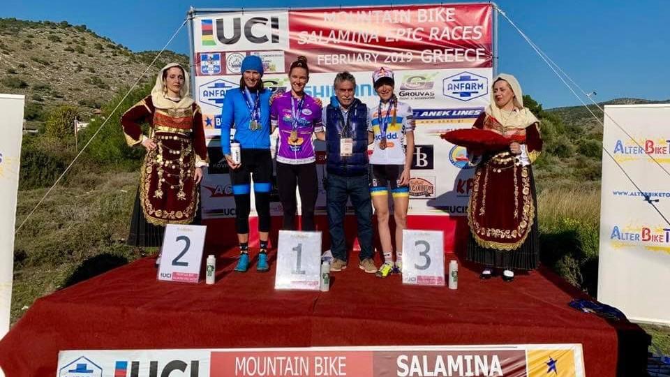 Велосипедистка з Луцька виборола «бронзу» на змаганнях в Греції. ФОТО