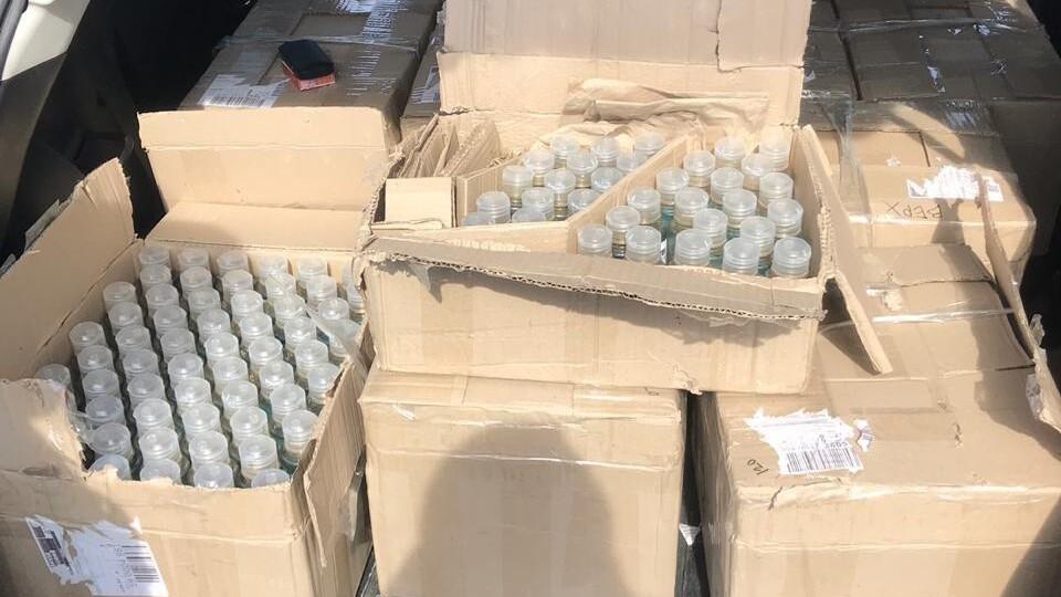 За час карантину поліція вилучила 2760 літрів підроблених антисептиків