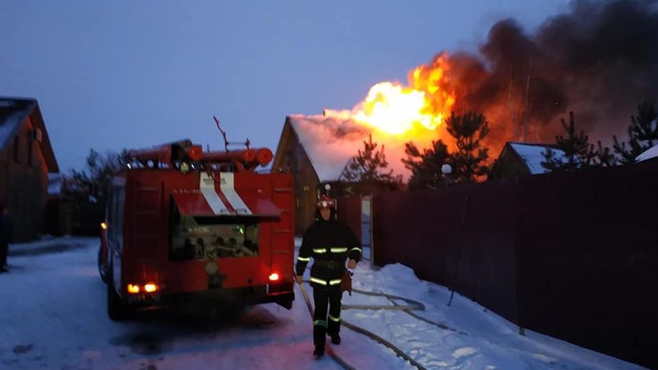 Пожежники розповіли, як гасили «Озерецькі бані». ФОТО