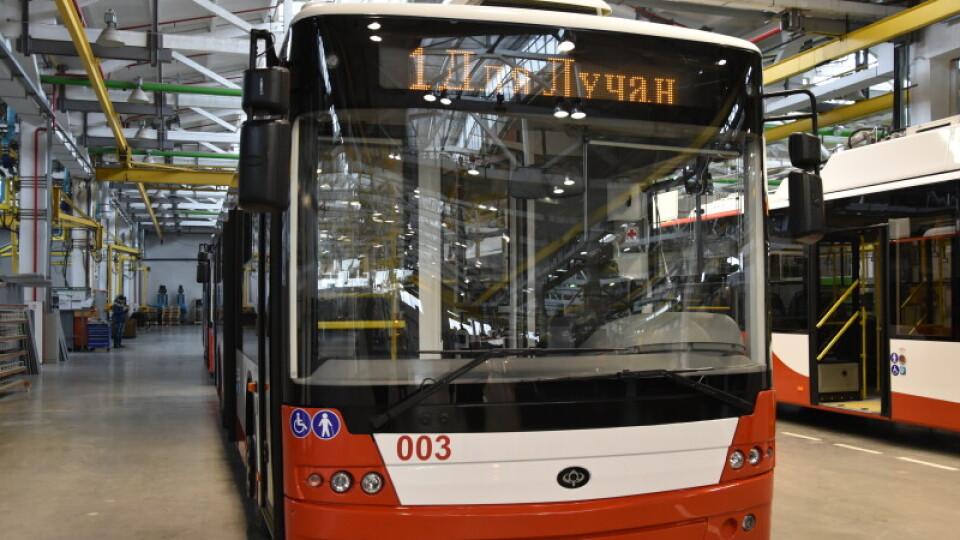 У Луцьку з наступного тижня їздитиме чотири нові тролейбуси