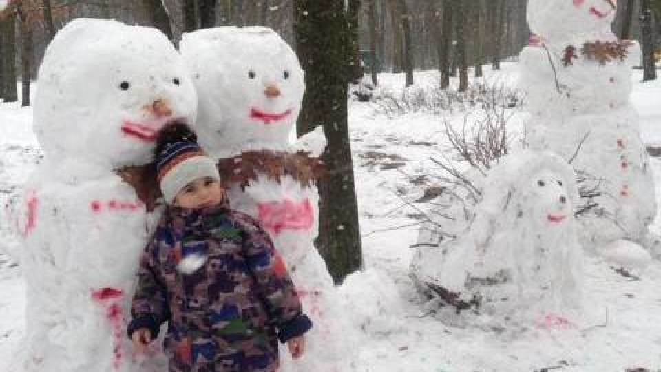 У Любешеві створили «країну снігових скульптур». ФОТО