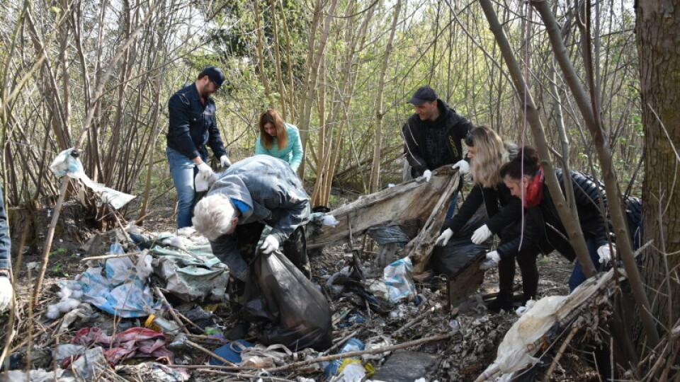 У Луцьку прибирали центральний парк: за дві години – вантажівка сміття