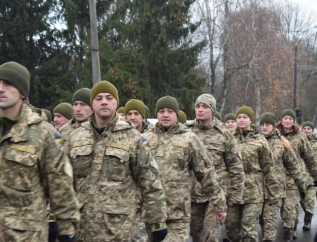 На Волині зустріли бійців 14-ї бригади. ФОТО