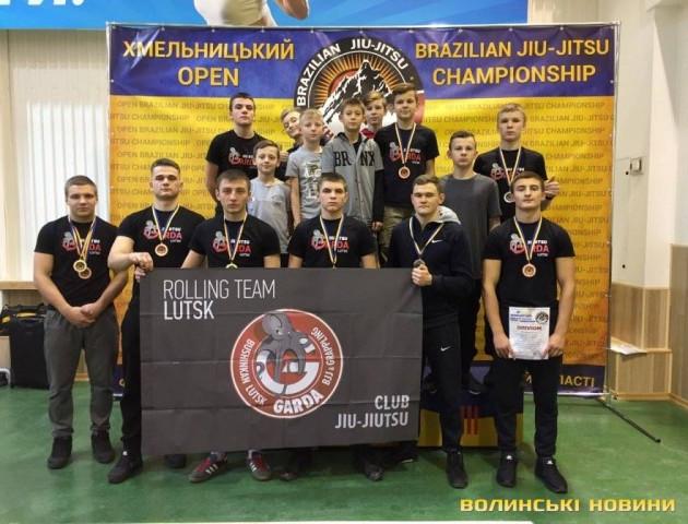 Луцькі спортсмени здобули 9 медалей на змаганнях з джіу-джитсу в Хмельницькому