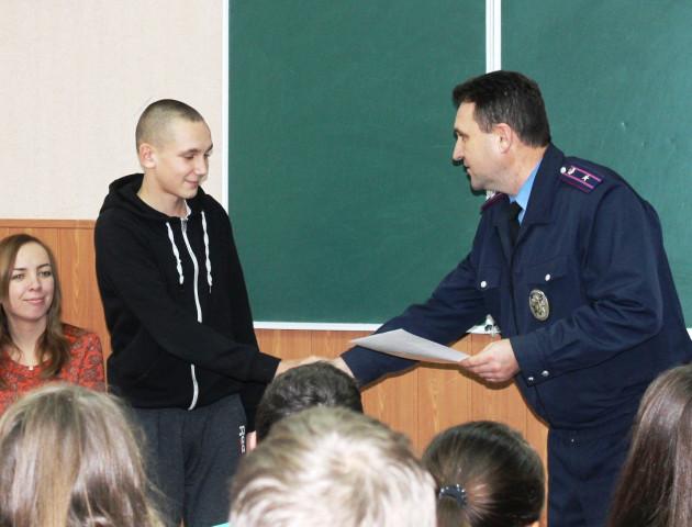 На Волині школярі допомогли поліції спіймати грабіжника