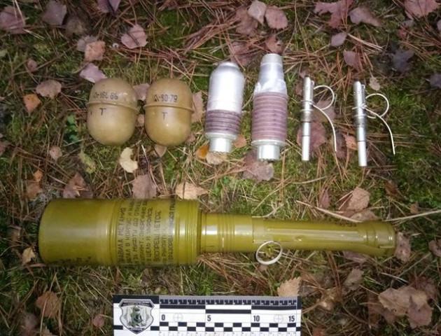 У лісі на Волині знайшли схованку з боєприпасами.ФОТО