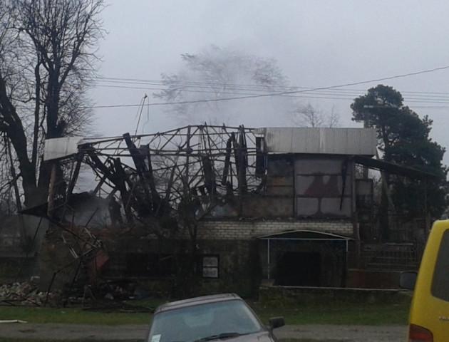 На Волині згорів торгівельний заклад