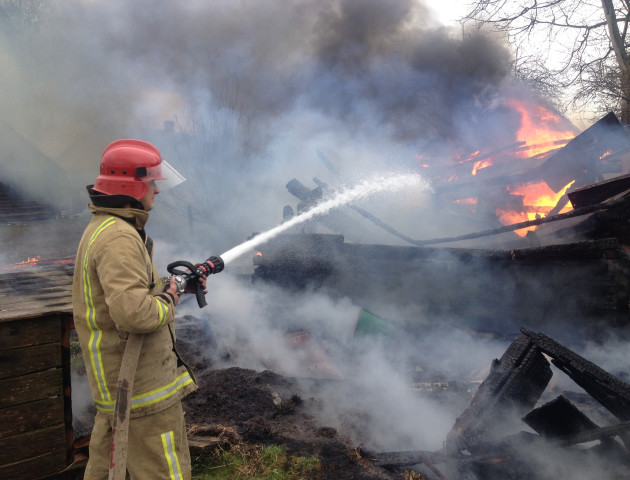 На Волині за вихідні трапилося 5 пожеж
