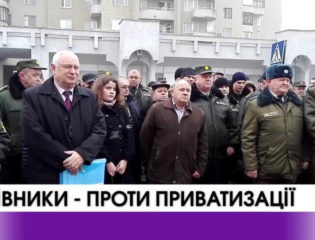 Українські лісівники проти приватизації лісу. ВІДЕО