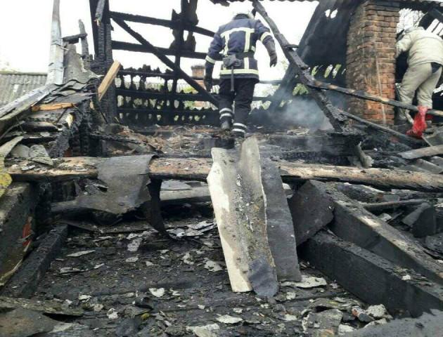 На Волині ліквідували дві пожежі у житловому секторі