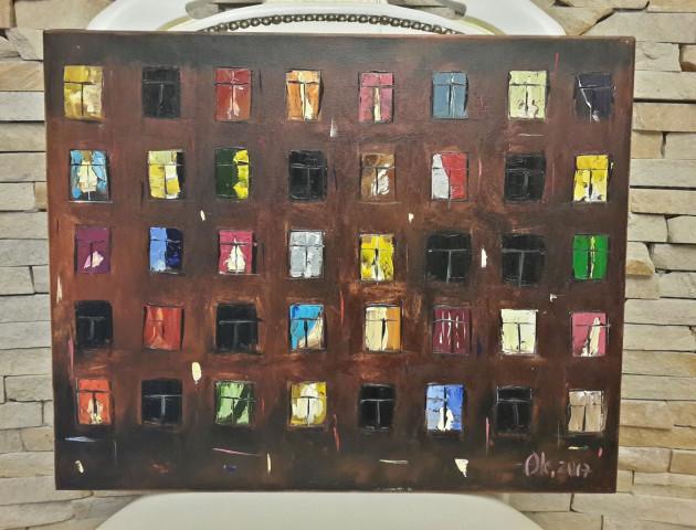 Картина «Вікна» відОксани Гузь була придбана на доброчинному аукціоні