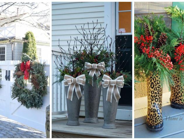 Як декорувати будинок та подвір'я до Нового року: 30 фото-ідей