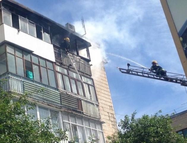 У Луцьку горіла квартира багатоповерхівки