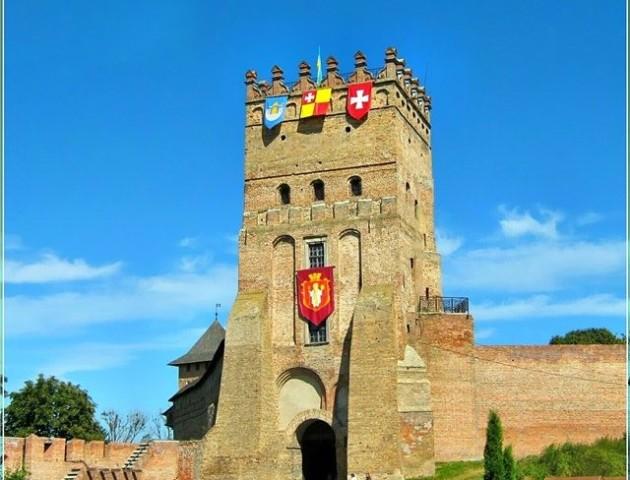 Луцький замок з висоти пташиного польоту. ВІДЕО