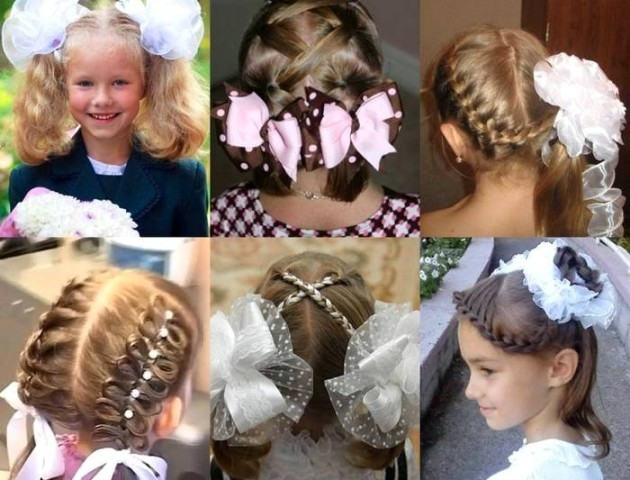 Стильні зачіски для школярок на 1 вересня