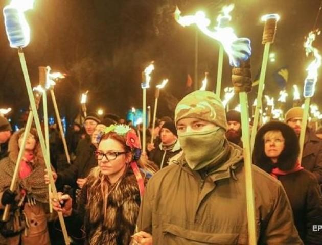 У Києві закінчився факельний марш