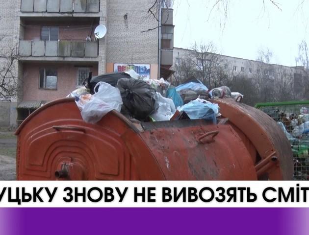 У Луцьку знову скаржаться на нерегулярний вивіз сміття. ВІДЕО