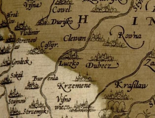 Луцьк на стародавній карті. ФОТО