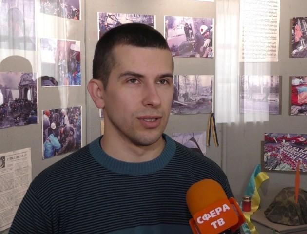 Прапори, талісмани, зброя: у Луцьку відкрили виставку «Неоголошена війна. Волинський рахунок». ВІДЕО