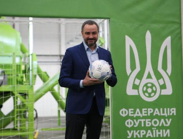 ФФУ запустила нову лінію виробництва з виготовлення резинової крихти для футбольних полів