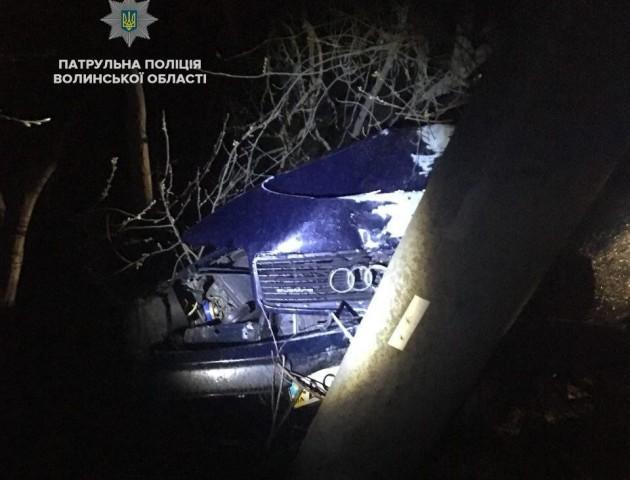 На Волині п'яний водій «врізався» в електроопору. ФОТО. ВІДЕО