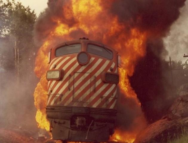 На Волині загорівся пасажирський поїзд