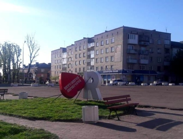 Вандали понищили інсталяцію «Я люблю Володимир». ФОТО