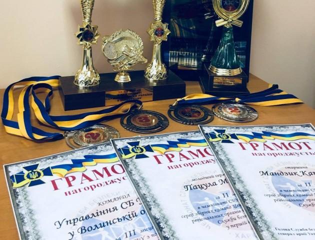 Волинська команда СБУ виборола ІІІ місце у чемпіонаті з поліатлону
