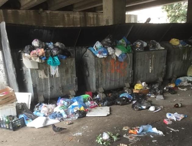 У Луцьку під мостом - смітник. ФОТО