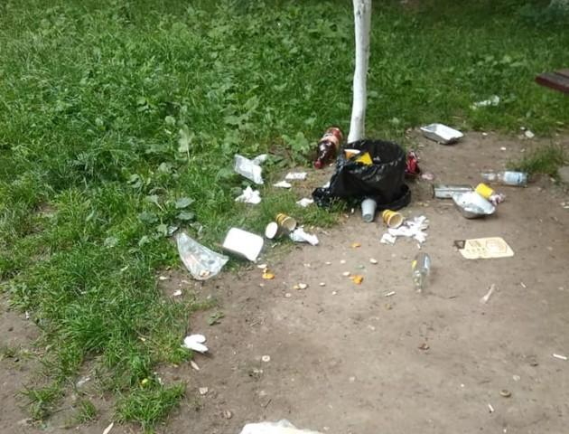 «Вже немає сил на все це дивитись»: лучани влаштували смітник у своєму дворі. ФОТО
